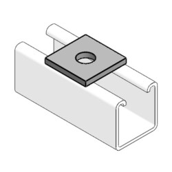M8 40mm x 40mm Square Plate Steel Washer MP1/8 ideal for Channel Support