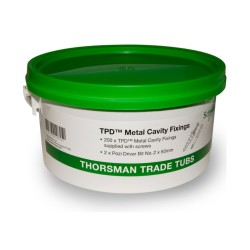 Trade Tub 11 with 200 Cavity Fixings and 200 Screws, Schneider 1776111 Tub