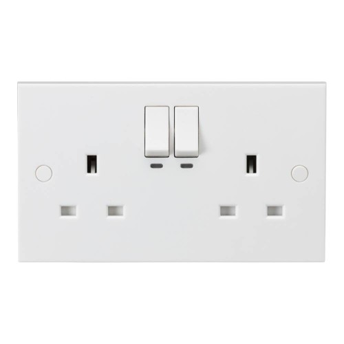 2 Gang 13A Smart Switched Socket max. 2990W to Control Appliances or Lighting via an App or Voice Command