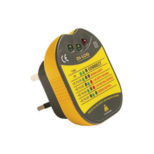 Di-Log DL1090 Socket Tester with LED Indicators and Buzzer Ideal for Socket Testing