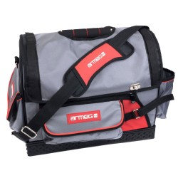 Armeg Tool Tote Bag 18 inch, Heavy Duty Large Hand and Power Tools Tote Bag Storage Case