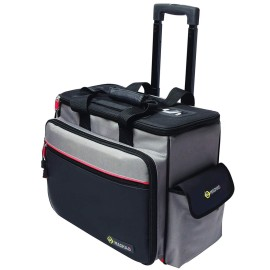 CK Tools Magma Technician's Wheeled Toolcase with 30 Pockets, Heavy Duty Tool Trolley 500mm x 300mm x 400mm