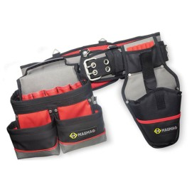 CK Tools MA2738 Magma Padded Tool Belt Set with Padded Belt, Tool Pouch, and Drill Holster