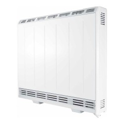 700W Fan Assisted Storage Heater in White with Thermostat and 7-day Timer, Lot20 Eco-design Compliant