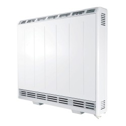 500W Fan Assisted Storage Heater in White with Thermostat and 7-day Timer, Lot20 Eco-design Compliant