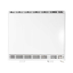 1kW Fan Assisted Storage Heater in White with Thermostat and 7-day Timer, Lot20 Eco-design Compliant