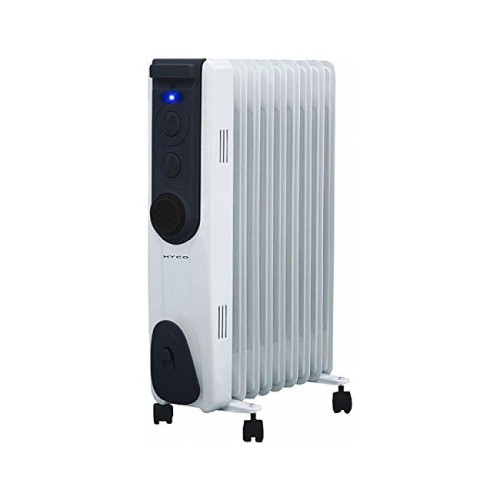 Riviera 2kW Oil-Filled Radiator with 3 Heat Settings, Timer, and Thermostat Control, Portable Heater
