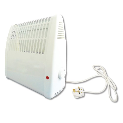 White 400W Frost Protection Convector Heater with Thermostat for Wall Mounting