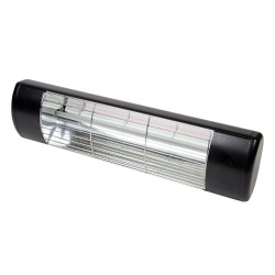 IP55 1.5kW Patio Heater in Black, Weather Resistant Frosted Halogen Heater BN Thermic HWP2