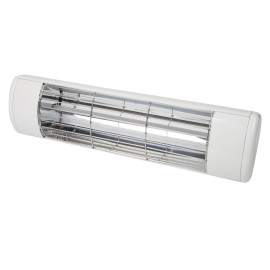 IP55 1.5kW Patio Heater in White, Weather Resistant Frosted Halogen Heater BN Thermic HWP2W
