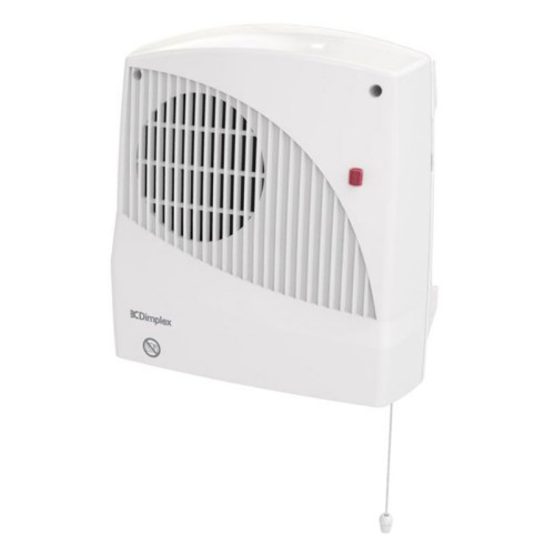Dimplex Downflow 2kW Wall Fan Heater with Pull Cord and Electronic Timer in White IP22