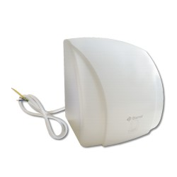 1800W High Performance Automatic Hand Dryer IPX1 in White Aluminium with 1m Cable