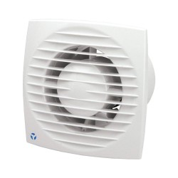 Aura-Eco 100mm 5.6W Quiet Toilet Fan with Adjustable Timer for Wall/Ceiling Airflow 9041348