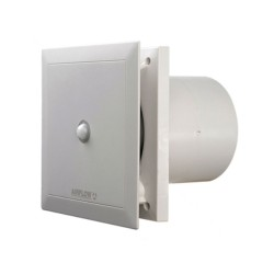 Airflow Quietair 4-inch (100mm) Axial Ventilation Fan with Motion Sensor and Timer Two Speed Options 75 or 90m3/h Airflow 9041262 (QT100MST)
