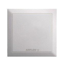 QuietAir 5 Inch/150mm White Kitchen Air Extractor Fan 2-speed Standard Model, Airflow 90000454 IP45 Axial Fan