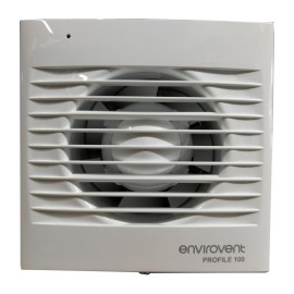 Low Profile 100mm Fan with Adjustable Timer for Kitchen / Bathroom, IP44 Envirovent Profile 100
