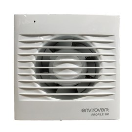 Low Profile 100mm Fan with PIR and Ajudstable Timer for Kitchen / Bathroom IP44 rated