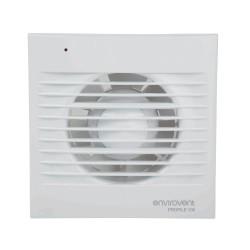 Low Profile 100mm Standard Fan for Kitchen / Bathroom, IP44 Envirovent Profile 100S