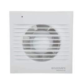 Low Profile 100mm Extractor Fan with Humidistat and Adjustable Timer for Kitchen / Bathroom