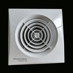 Envirovent SIL100S Silent 100mm Standard White Extractor Fan for Bathroom and Toilet