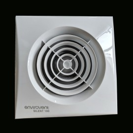 Silent 100mm Bathroom Extractor Fan with Adjustable Timer, EnviroVent Silent 100 Toilet fan