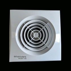 Silent 100mm Bathroom Fan with Adjustable Timer and Humidistat, EnviroVent Axial Extractor Fan
