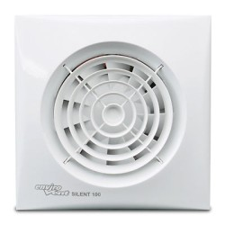 SELV Silent 100mm Bathroom Fan with Timer, Humidistat, and Transformer 12V IP57 Rated