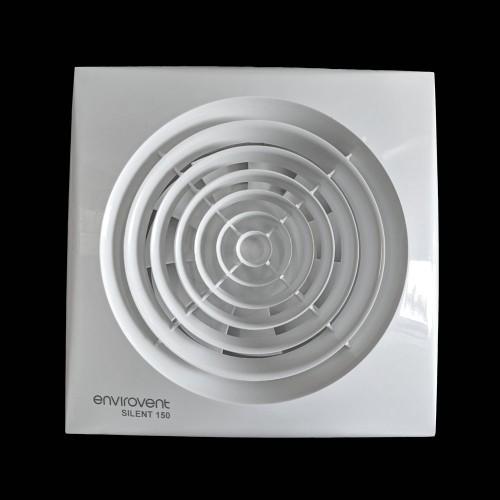 150mm Silent Fan with Adjustable Timer, IP45 78 l/s Envirovent Kitchen Ventilation Fan