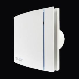 Silent 100 Design White Bathroom Fan with Adjustable Timer IP45 Quiet Toilet Fan SILDES100T