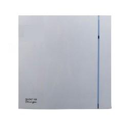 Silent 100 Design Silver Bathroom Fan with Adjustable Timer IP45 Quiet Toilet Fan SILDES100T