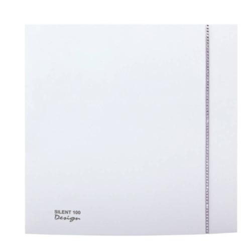 Envirovent SILDES100GK Swarovski Silent Design 100 Bathroom Ventilation Fan in Grey with Timer 8W IP45 100mm Quiet Fan