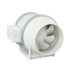 Envirovent Silent MV160/100T Ultra Quiet 100mm In-Line Duct Fan with Timer for Bathroom