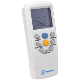 Westinghouse 77874 Radio Frequency Thermostat and Timer Remote Control in White for Ceiling Fans with Light