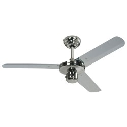 Westinghouse Industrial Ceiling Fan 3 Blade 122cm / 48 inch in Chrome with Reversible Chrome Steel Blades