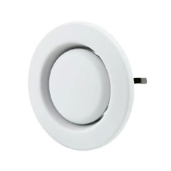 5 Inch Ventilation Air Valve, 125mm Diameter White Outlet Plastic Dish Valve