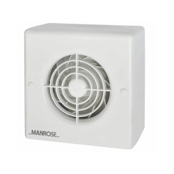 Manrose 100mm Centrifugal Bathroom Fan with Adjustable Timer 1-20mins for Wall / Ceiling