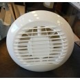 100mm Timer Bathroom and Kitchen Circular Fan in White / Chrome with Backdraft Shutter Manrose HAYLO100T