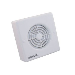 Manrose 100mm Safety Extra Low Voltage Extractor Fan for Wall / Ceiling in Bathroom or Toilet