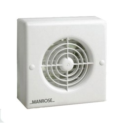 Manrose XF100T 100mm Extractor Fan with Adjustable Electronic Timer for Bathroom/Toilet