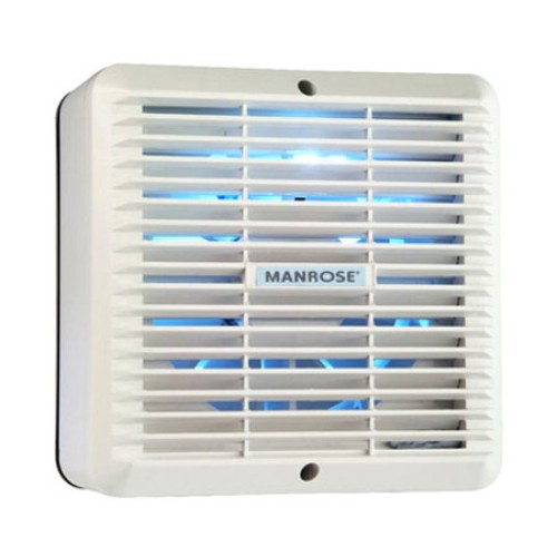 Manrose XF150 150mm Standard Extractor Fan for Remote Switching, Six Inch Wall Fan