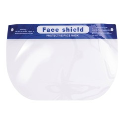 Protective Face Shield for use with Masks, Glasses, and Lenses, Transparent, Latex Free