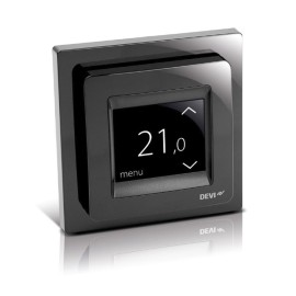 DEVIreg Touch Screen Programmable Thermostat with Black frame, DEVImat Intelligent Thermostat