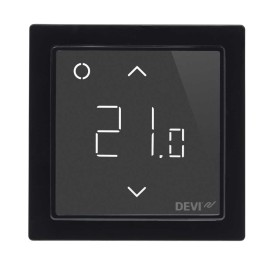 DEVIreg Smart Pure Black Intelligent Electronic Timer Thermostat with Wi-Fi connectivity and App control