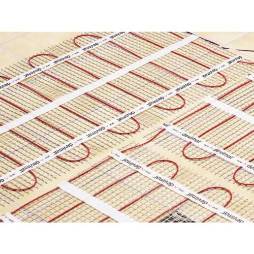 DEVImat 12.0 m2 Underfloor Heating Mat (0.5 x 24 m) 1200W for Timber Floors DEVIcomfort 100T (DTIR) 100W/m2