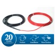DEVIcomfort 10T DTIR 1250W 129m Floor Heating Cable Loose Lay kit, Ultra Thin, 8.4-12.9m2