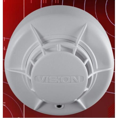 58 degrees Celsius Fixed Temperature Heat Detector, Vision 2020F Conventional Alarm Low Profile
