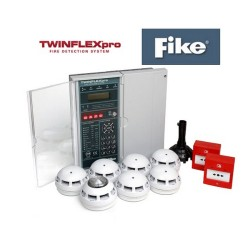 Fike TwinflexPro 604-0008 8 Zone Panel Kit with 6 ASD Detectors, 1 Sounder, 2 Call Points, 8-Zone Panel, 1 tool
