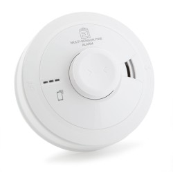 Aico Ei3024 Multi-Sensor Fire Alarm with Heat and Optical Smoke Sensor, with AudioLINK