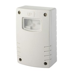 IP44 PIR Photocell Sensor with Timer and Dusk-till-Dawn Feature in Grey for 0.1W-1000W Loads