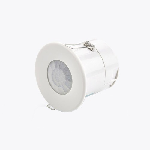 Flush Ceiling PIR Presence Detector IP40 for Switching with Lux Level Sensing and Time Delay CP Electronics GEFL